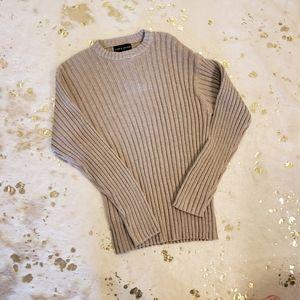 NWT Croft & Barrow Ribbed Tan Taupe Sweater Large